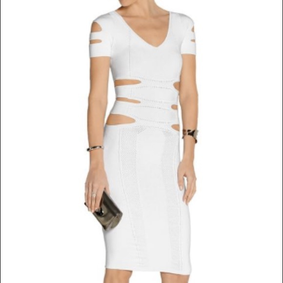 ca9eb57f3 cushnie et ochs Dresses | White Slit Dress Small | Poshmark